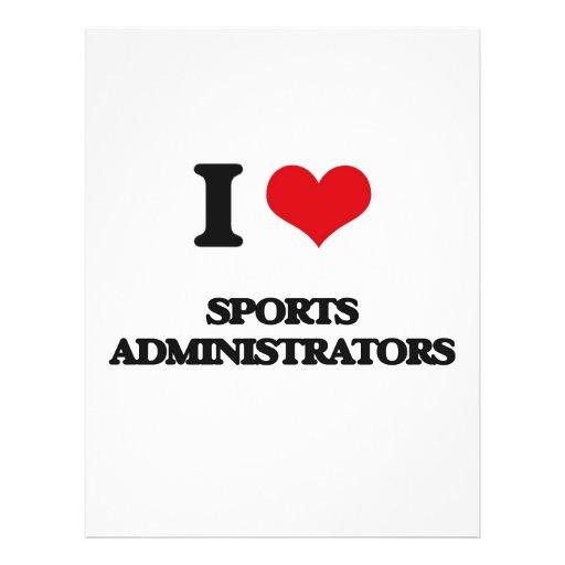 J'aime des administrateurs de sports tract customisé