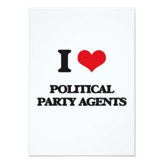 J'aime des agents de parti politique faire-parts