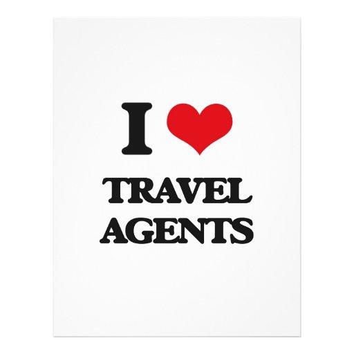 J'aime des agents de voyage prospectus customisé