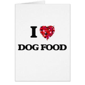 J'aime des aliments pour chiens carte de vœux