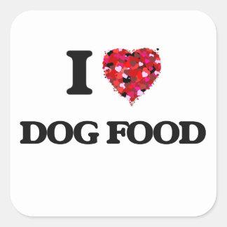 J'aime des aliments pour chiens sticker carré