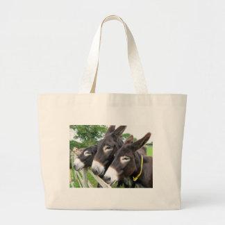 J'aime des ânes ! sac en toile jumbo