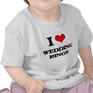 J'aime des anneaux de mariage t-shirts