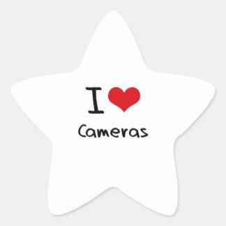 J'aime des appareils-photo autocollant en étoile