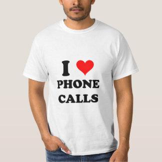 J'aime des appels téléphoniques t-shirt