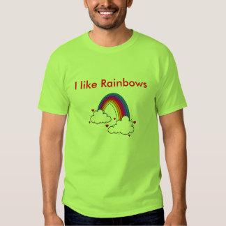 J'aime des arcs-en-ciel - customisés t-shirt