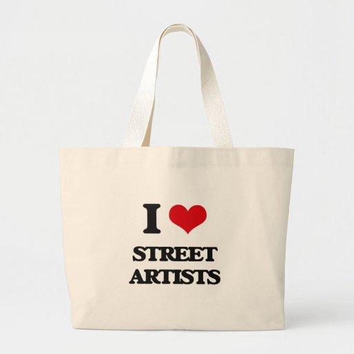 J'aime des artistes de rue sac en toile