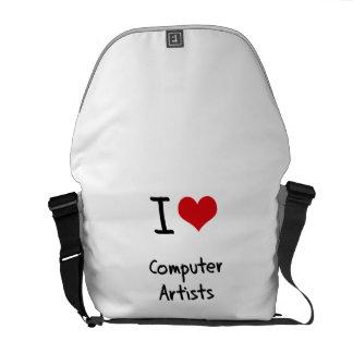 J'aime des artistes d'ordinateur besace