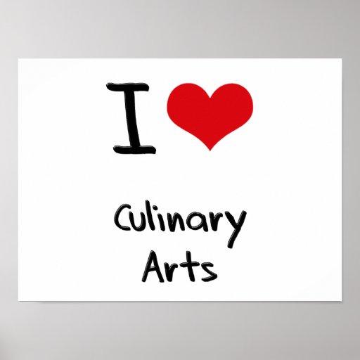 J'aime des arts culinaires affiches