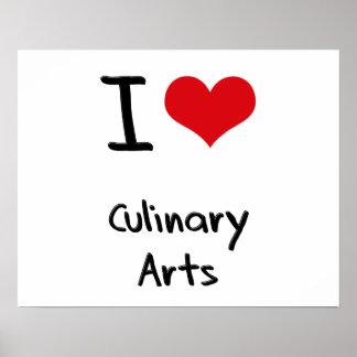 J'aime des arts culinaires posters