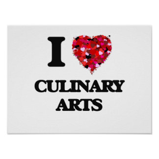 J'aime des arts culinaires poster