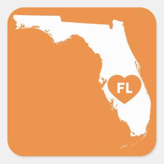 J'aime des autocollants d'état de la Floride