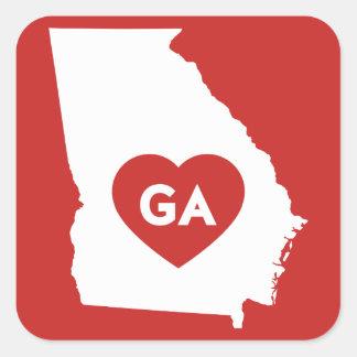 J'aime des autocollants d'état de la Géorgie