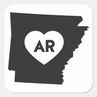 J'aime des autocollants d'état de l'Arkansas
