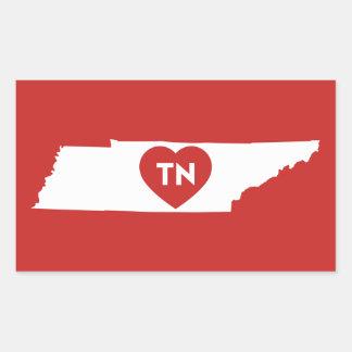 J'aime des autocollants d'état du Tennessee