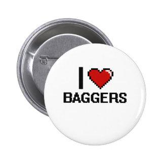 J'aime des Baggers Badge Rond 5 Cm