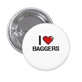 J'aime des Baggers Badge Rond 2,50 Cm