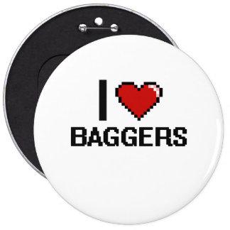 J'aime des Baggers Badge Rond 15,2 Cm