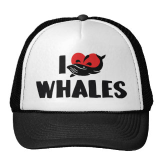 J'aime des baleines de coeur - amant de baleine casquette