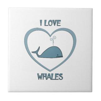 J'aime des baleines petit carreau carré