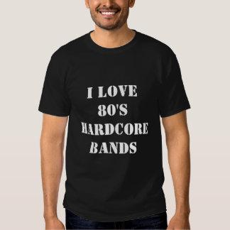 J'aime des bandes d'inconditionnel des années 80 t-shirt