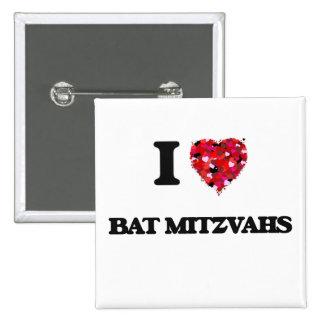 J'aime des bat mitzvah badge carré 5 cm