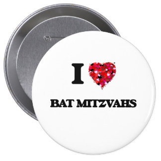 J'aime des bat mitzvah badge rond 10 cm