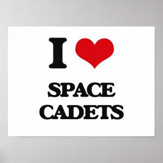 J'aime des cadets de l'espace poster