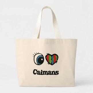 J'aime des Caimans (de coeur) Sac En Toile