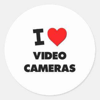 J'aime des caméras vidéo autocollants ronds