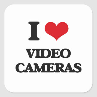 J'aime des caméras vidéo sticker carré