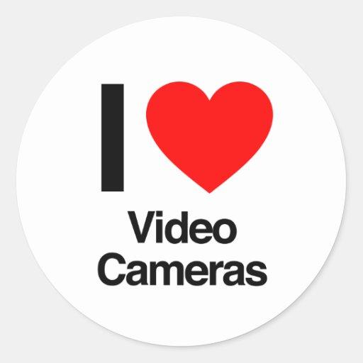j'aime des caméras vidéo adhésifs ronds