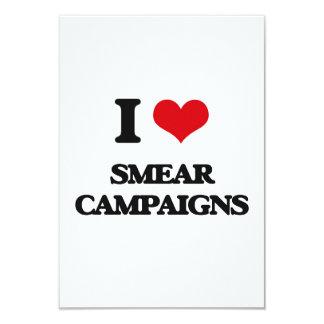 J'aime des campagnes de diffamation carton d'invitation 8,89 cm x 12,70 cm