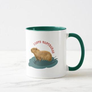 J'aime des capybaras mug