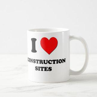 J'aime des chantiers de construction mug à café