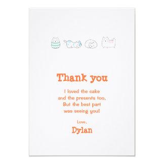 J'aime des chats carton d'invitation  12,7 cm x 17,78 cm
