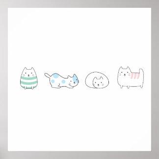 J'aime des chats poster