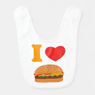 J'aime des cheeseburgers bavoir de bébé