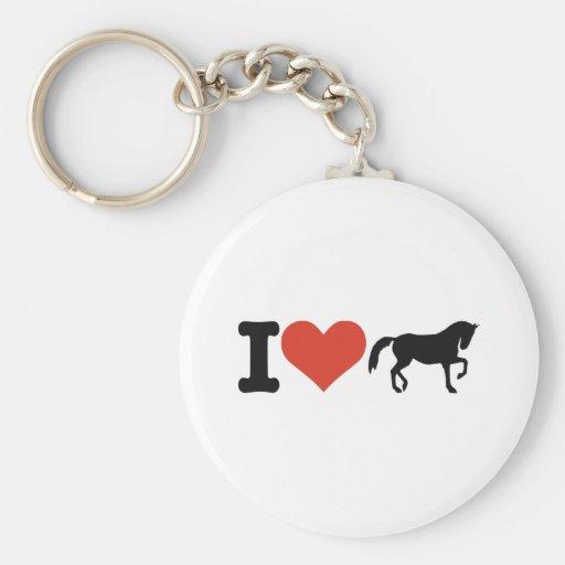J'aime des chevaux porte-clefs