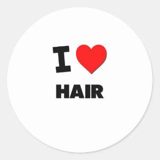 J'aime des cheveux adhésif rond
