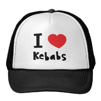 J'aime des chiches-kebabs casquettes
