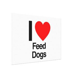 j'aime des chiens d'alimentation impressions sur toile