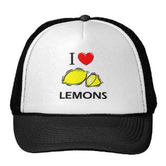 J'aime des citrons casquettes