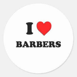 J'aime des coiffeurs adhésifs ronds
