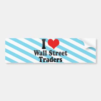 J'aime des commerçants de Wall Street Adhésif Pour Voiture