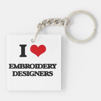J'aime des concepteurs de broderie porte-clef