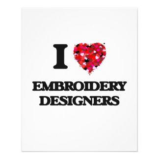 J'aime des concepteurs de broderie prospectus 11,4 cm x 14,2 cm