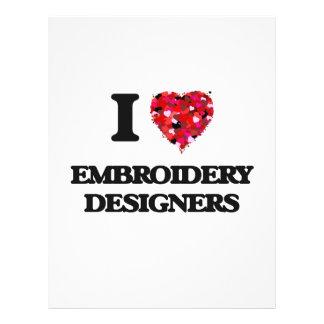 J'aime des concepteurs de broderie prospectus 21,6 cm x 24,94 cm