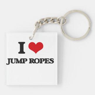 J'aime des cordes de saut porte-clefs