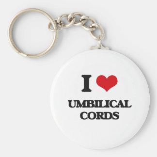 J'aime des cordons ombilicaux porte-clé rond